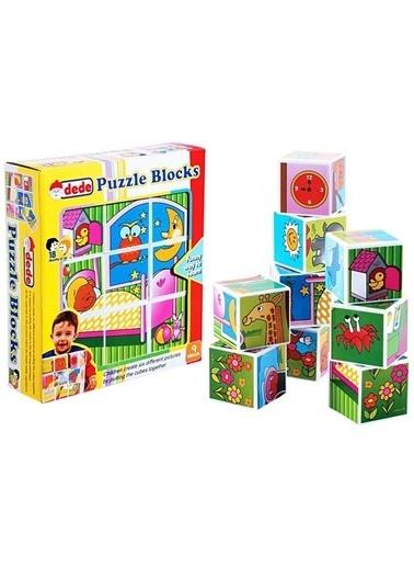 Dede Dede Renkli Resimli 9Lu Küp Eğitici Öğretici Oyuncak Şekiller Renkli